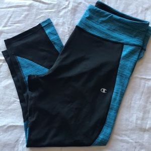 Champion Yoga Pants (3/4) in Blue and Black